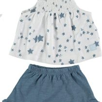 Cotton Fish Camiseta Estrellas azules + braguita