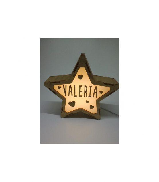 Estrella Corazones lámpara personalizable