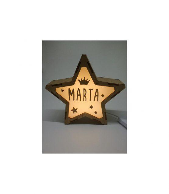 Estrella Corona lámpara personalizable