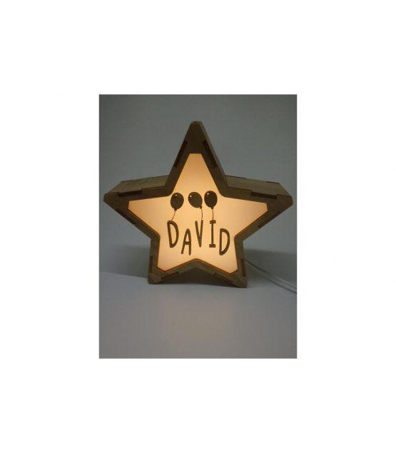Estrella Globos lámpara personalizable