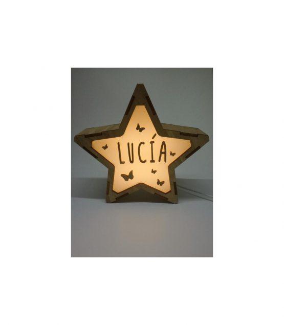 Estrella Mariposas lámpara personalizable