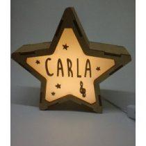 Estrella Música lámpara personalizable