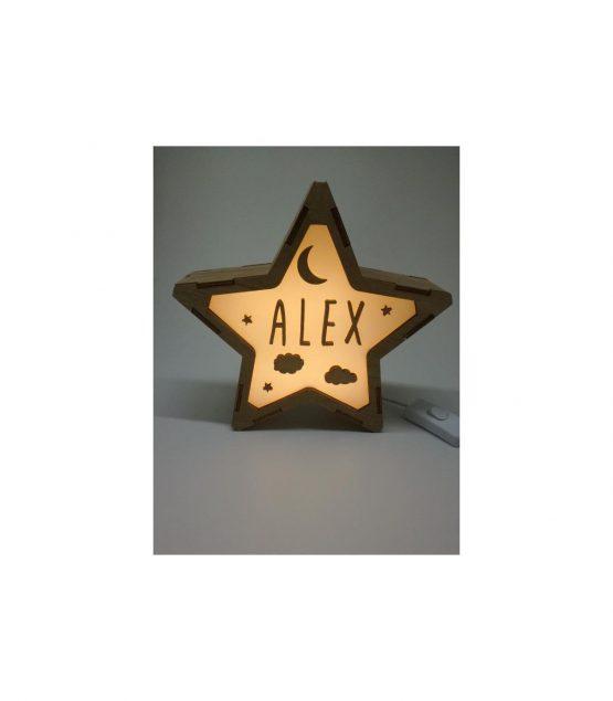 Estrella Noche lámpara personalizable