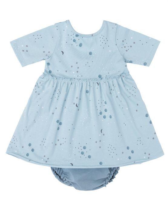 Baby clic vestido cosmos mint